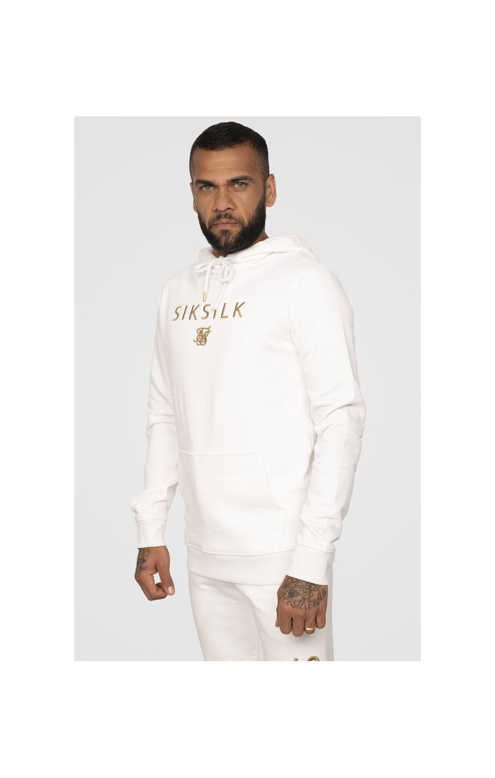 SikSilk x Dani Alves Sweat à Capuche - Blanc
