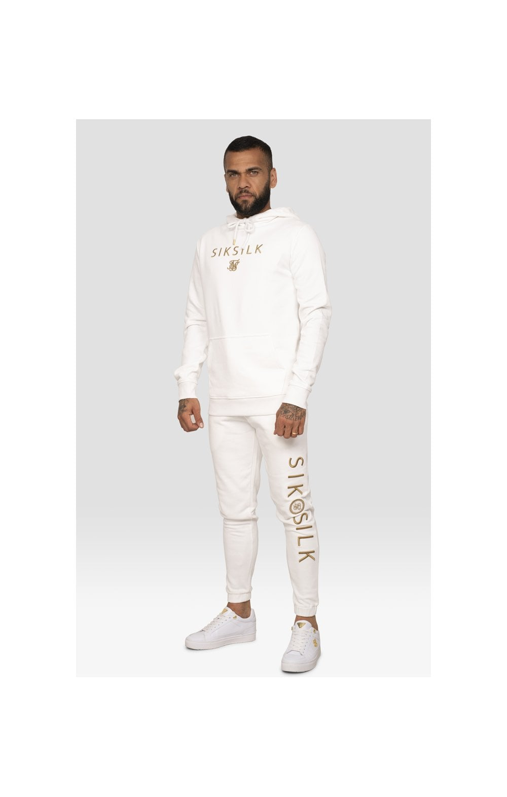 SikSilk x Dani Alves Sweat à Capuche - Blanc (2)