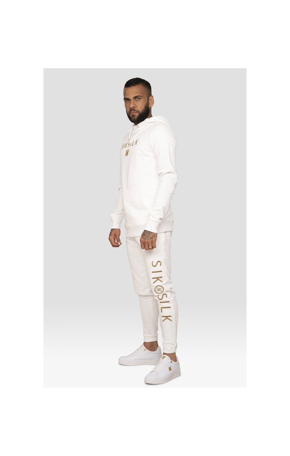 SikSilk x Dani Alves Sweat à Capuche - Blanc (4)