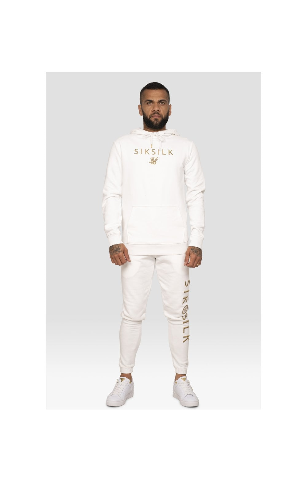 SikSilk x Dani Alves Sweat à Capuche - Blanc (6)