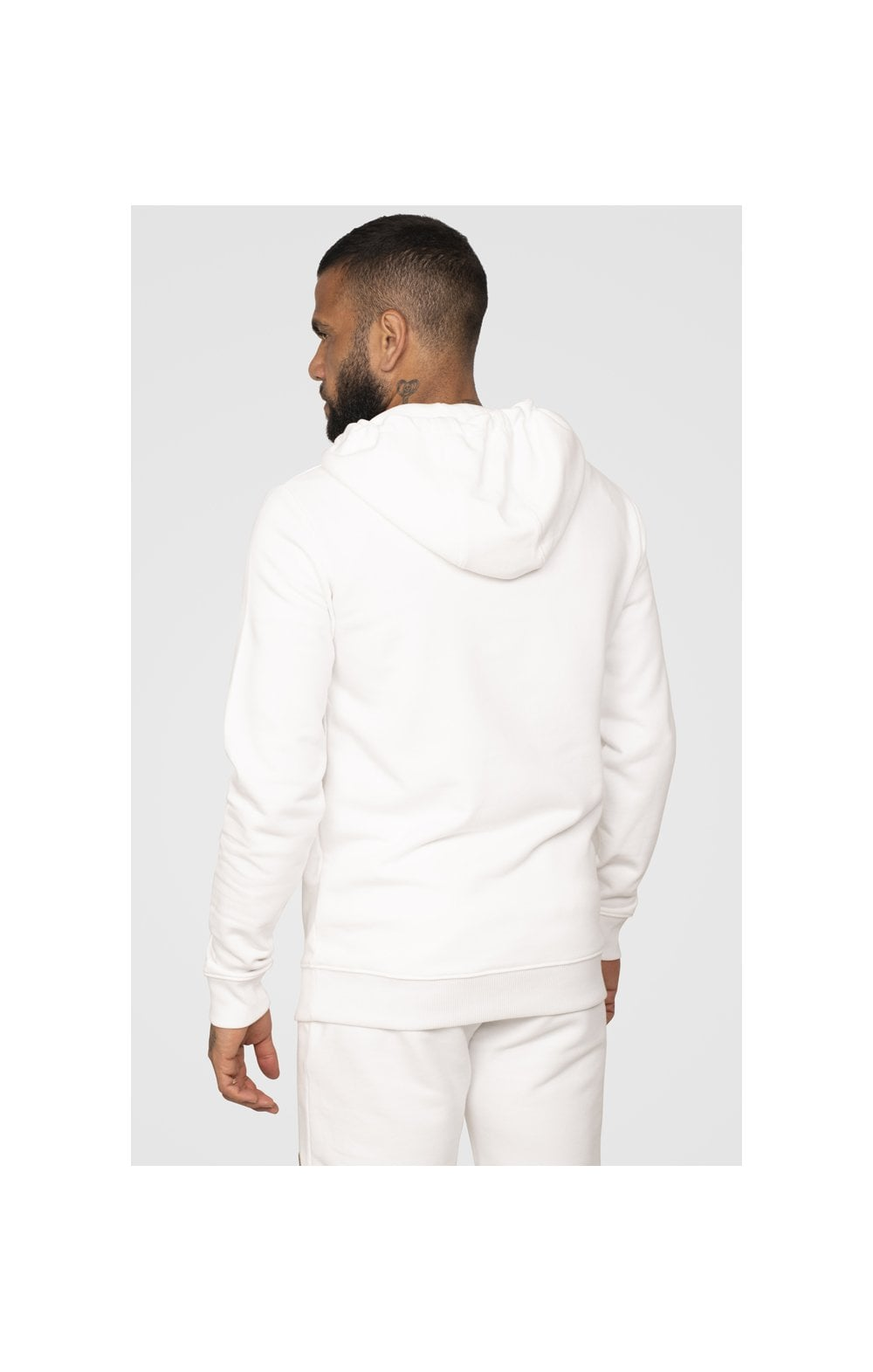 SikSilk x Dani Alves Sweat à Capuche - Blanc (8)