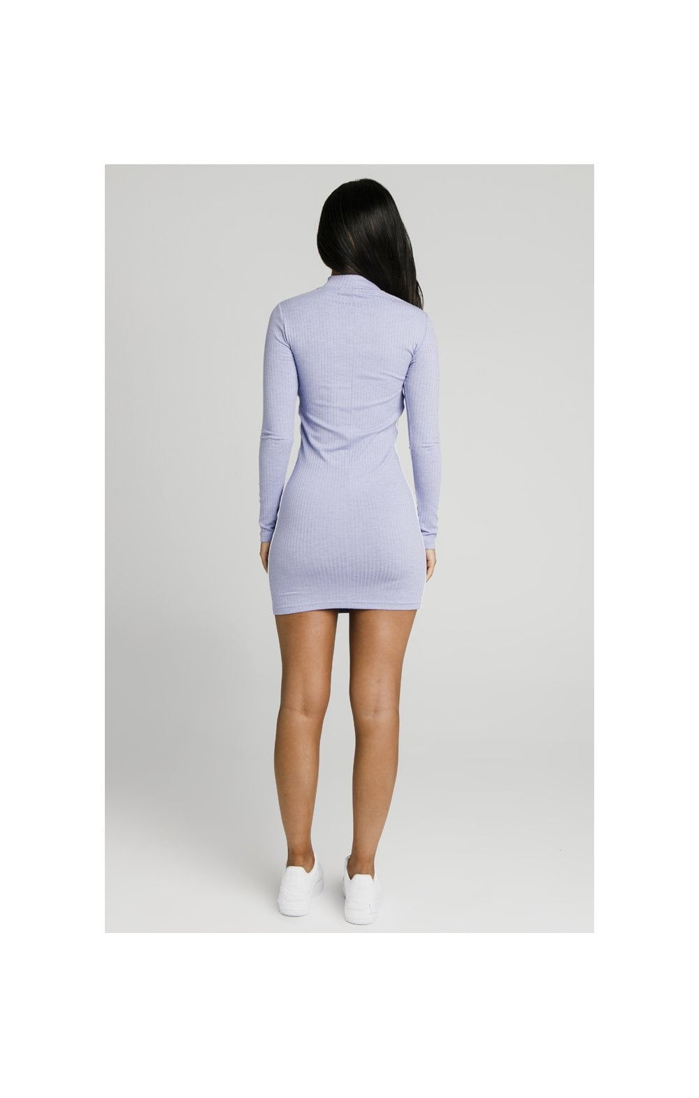 Charger l'image dans la galerie, SikSilk Violet Rib Bodycon Dress - Violet (5)