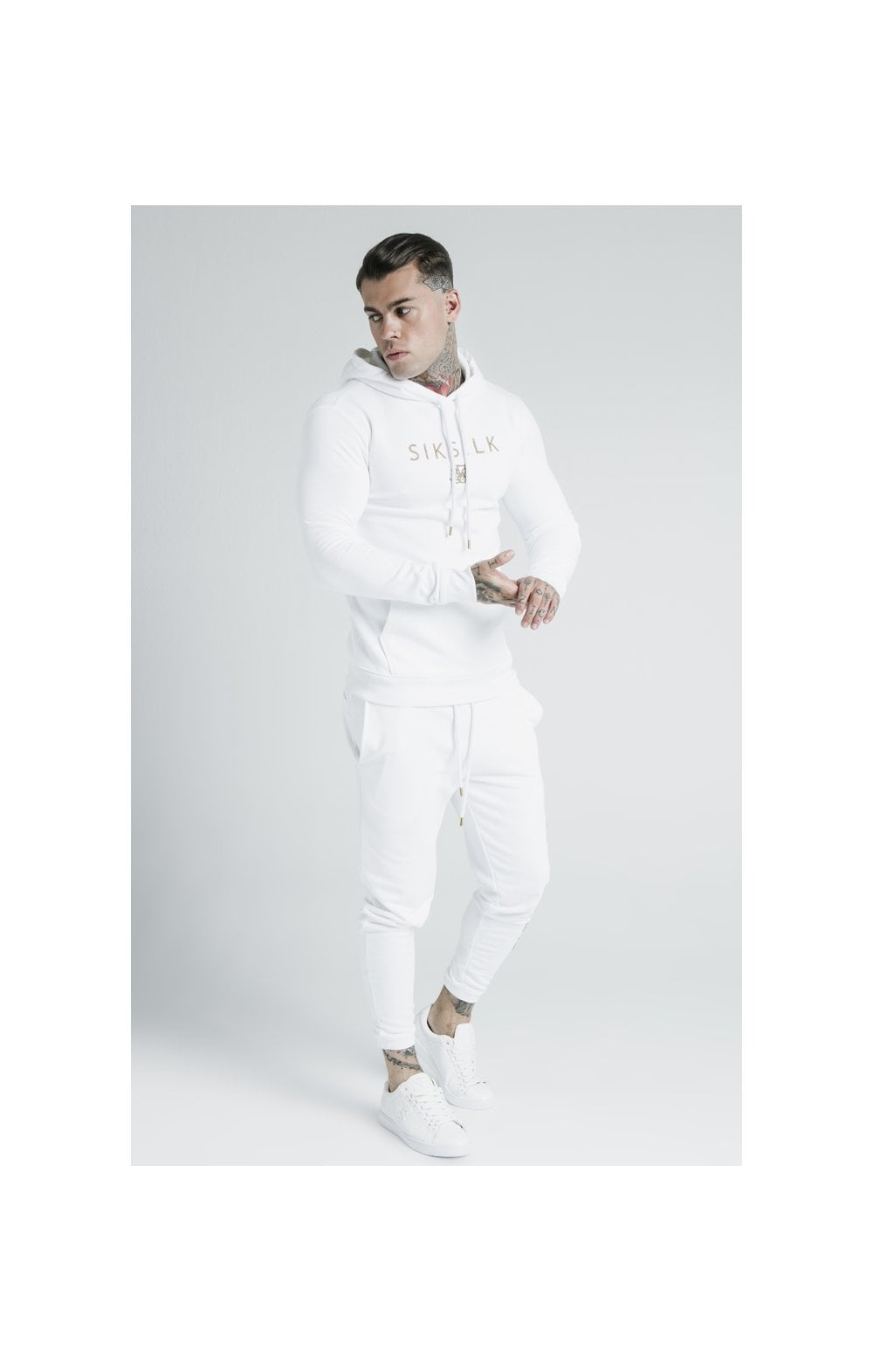 SikSilk x Dani Alves Sweat à Capuche - Blanc (7)