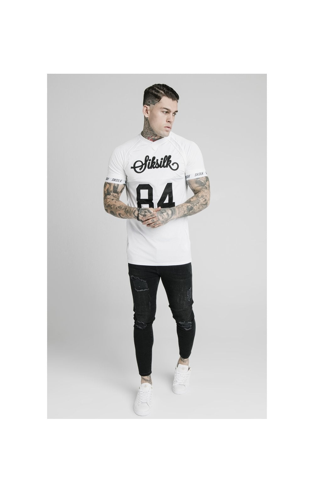 SikSilk Stretch Sports Tee - White (2)
