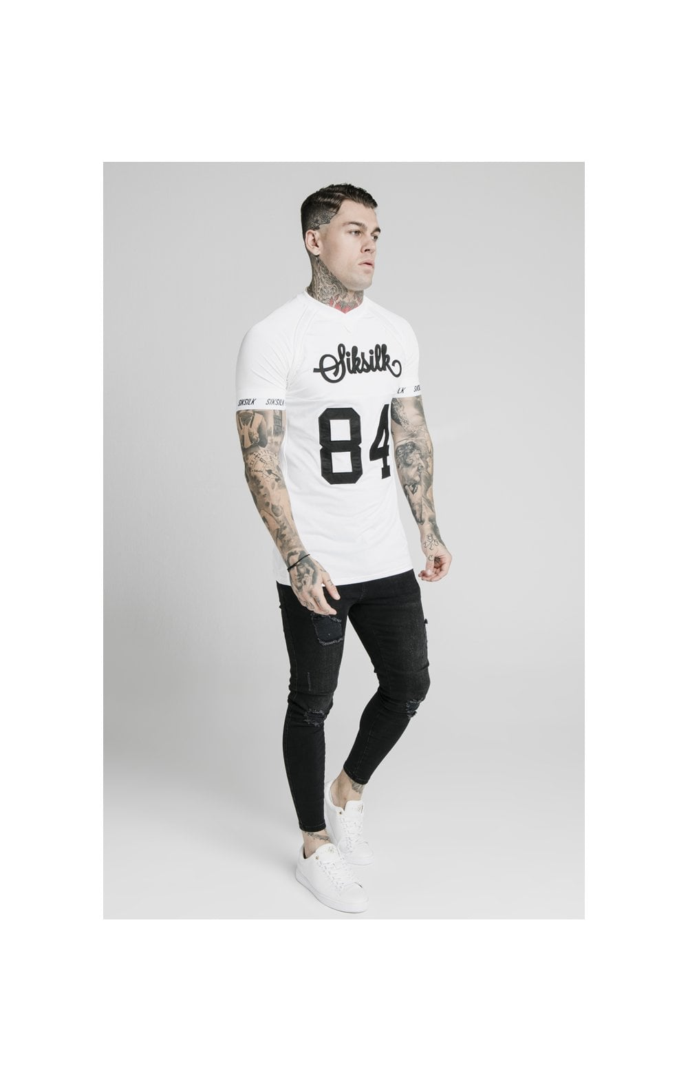 SikSilk Stretch Sports Tee - White (3)