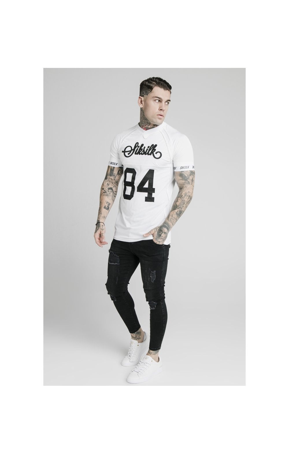 SikSilk Stretch Sports Tee - White (4)