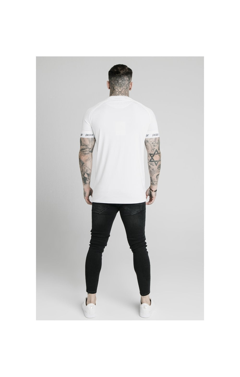 SikSilk Stretch Sports Tee - White (5)