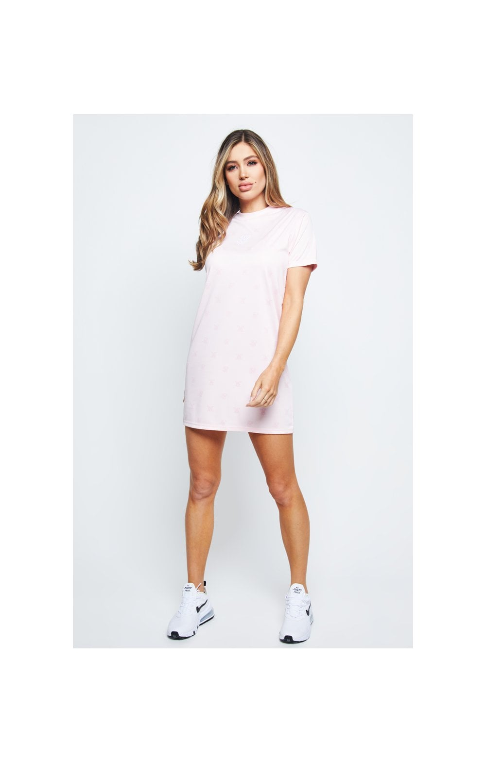 SikSilk Monogram Printed T-Shirt Dress - Pink (3)