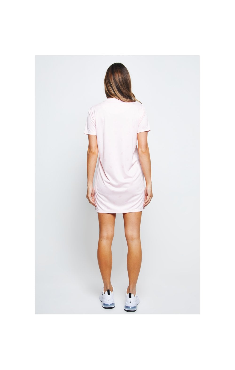 Charger l'image dans la galerie, SikSilk Monogram Printed T-Shirt Dress - Pink (8)