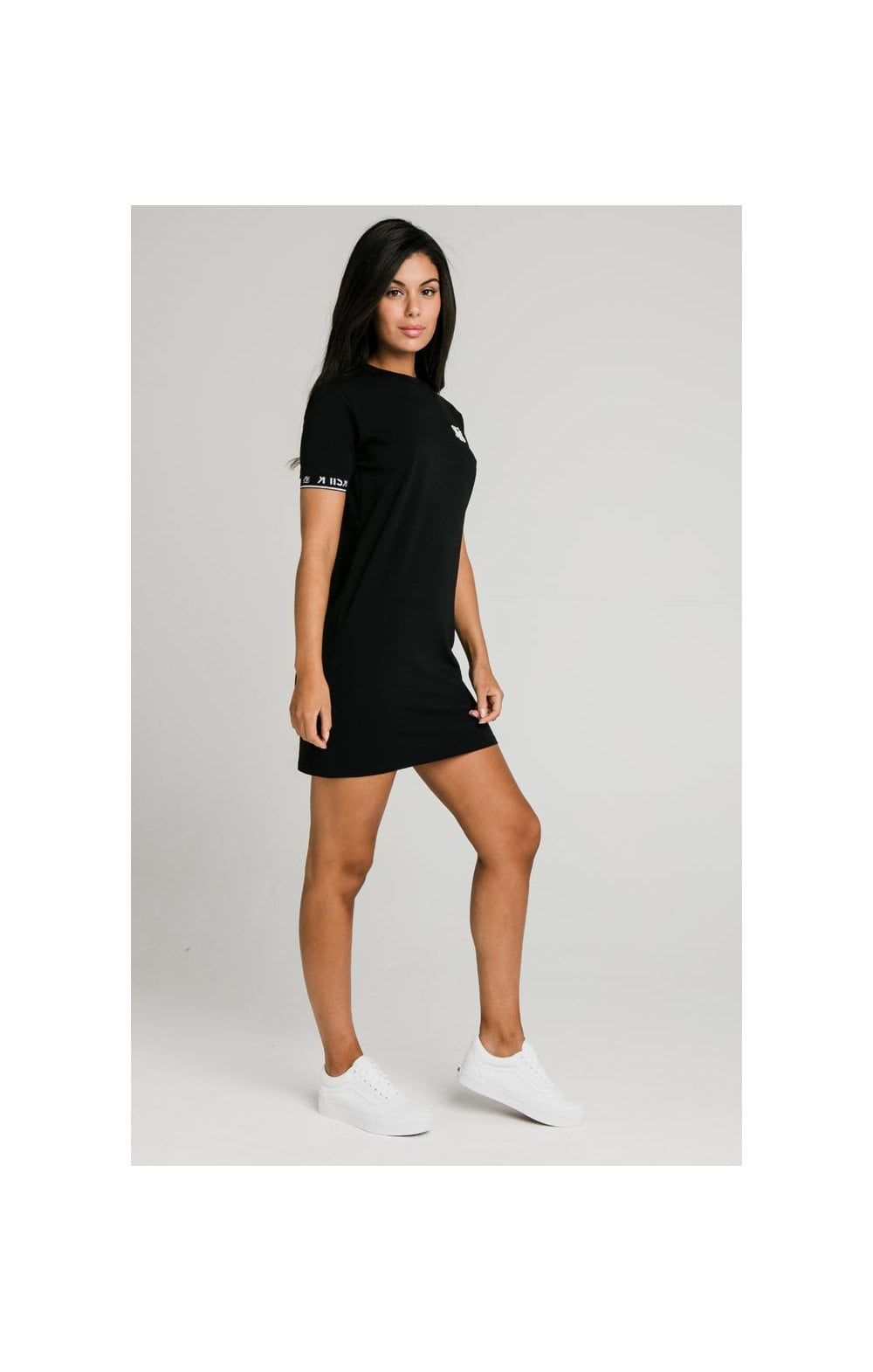 SikSilk Core Tech T-Shirt Dress Black (1)