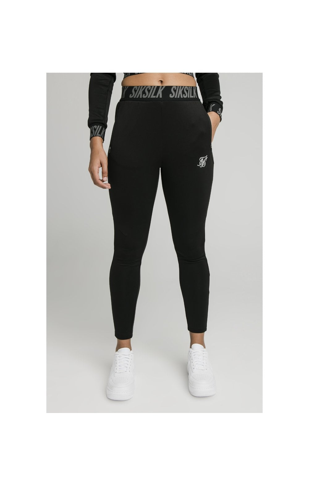 SikSilk Zonal Track Pants Black (1)
