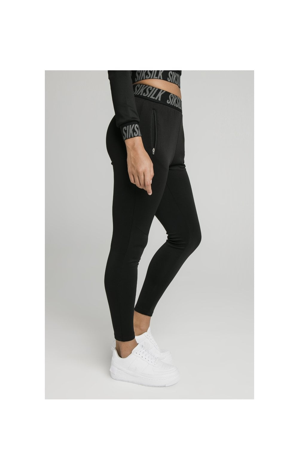 SikSilk Zonal Track Pants Black (3)