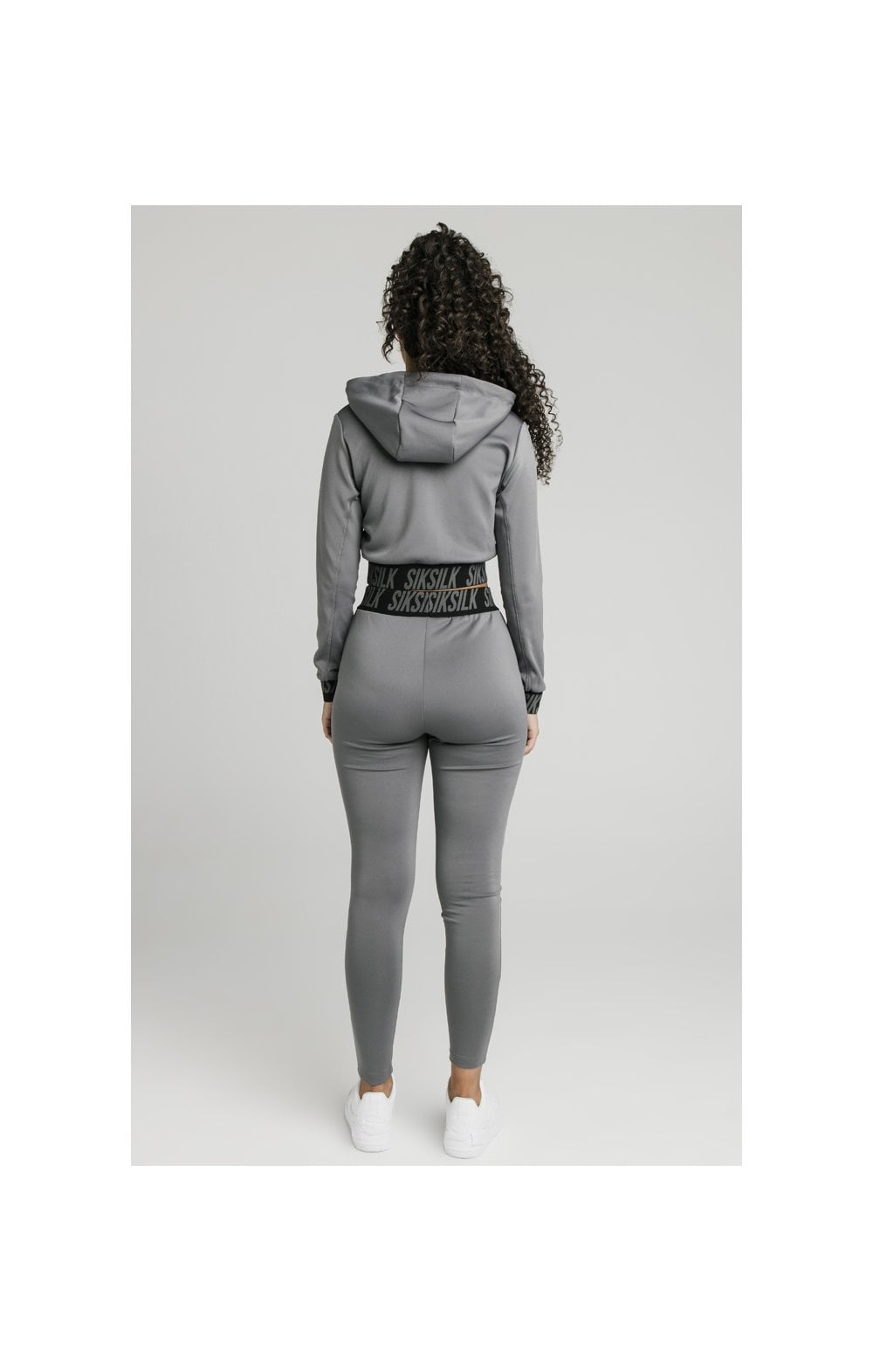 SikSilk Cropped Gym Track Top - Grey (6)