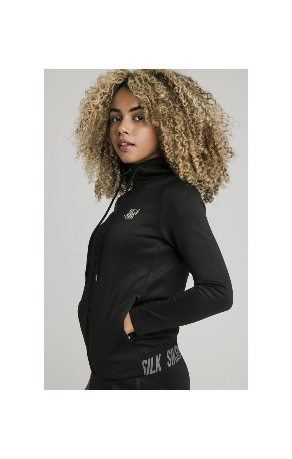 SikSilk Gym Track Jacket - Black