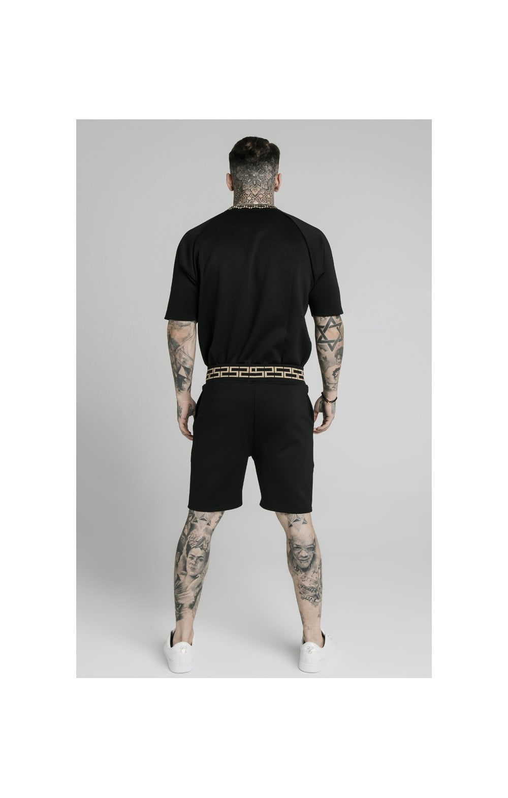 Charger l'image dans la galerie, SikSilk Chain Rib Relaxed Shorts - Black (3)