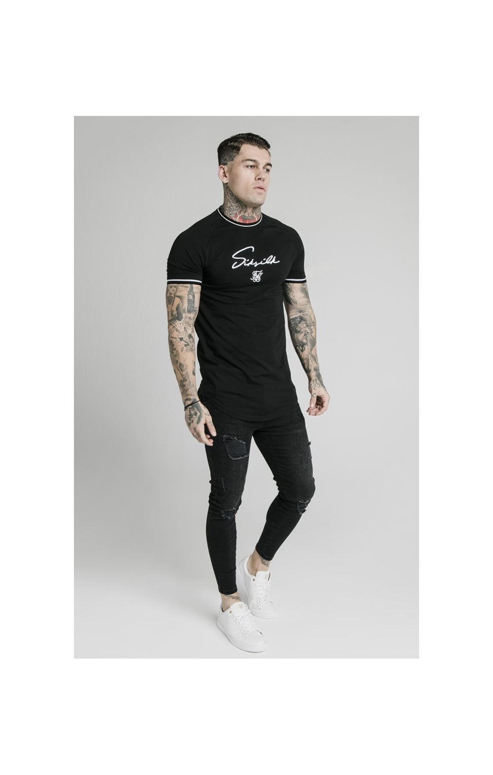 SikSilk Signature Piped Tech Tee - Black (3)