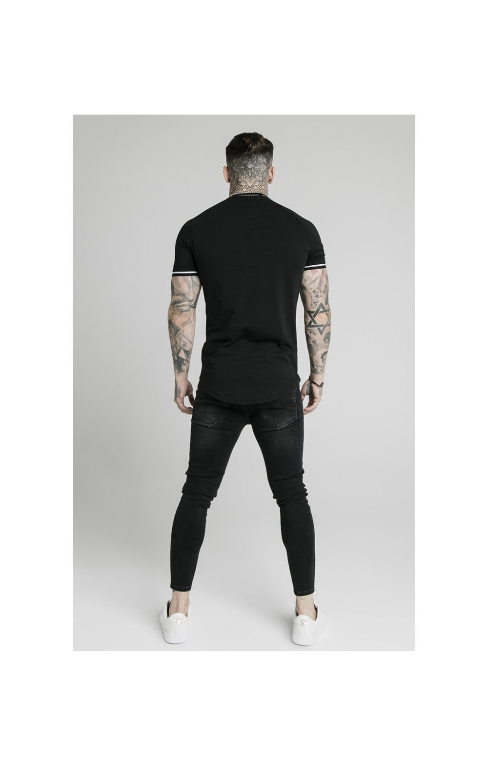 SikSilk Signature Piped Tech Tee - Black (4)