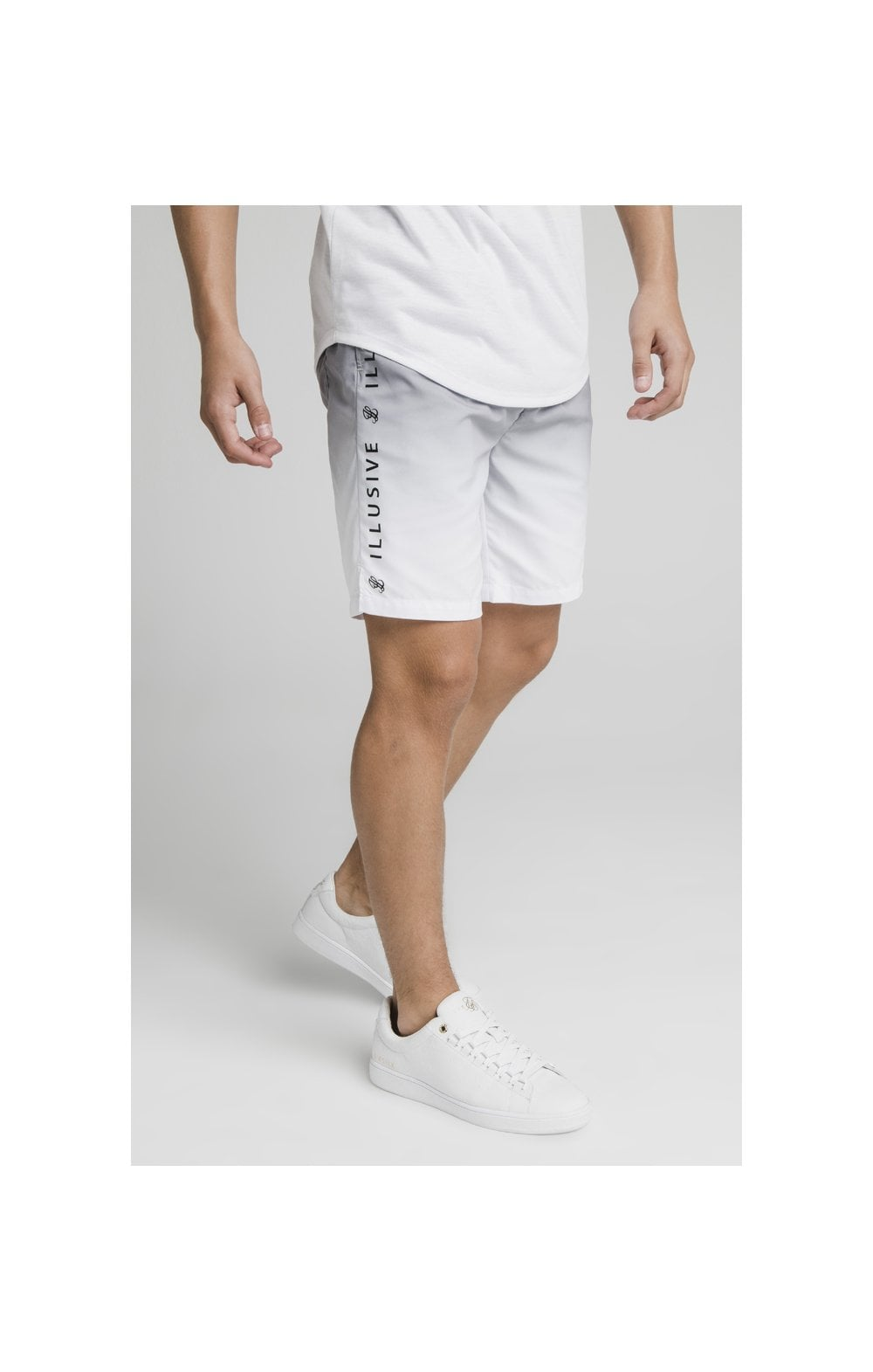 Illusive London Fade Swim Shorts - Grey & White