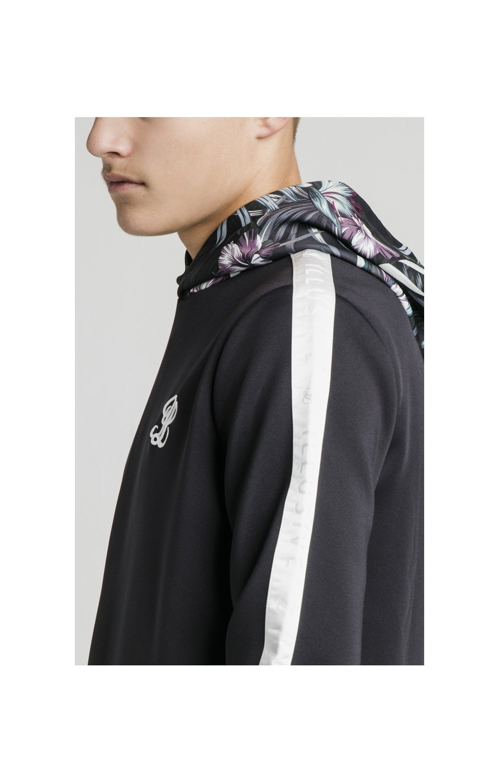 Charger l'image dans la galerie, Illusive London Dark Tropical Taped Hoodie - Navy (1)