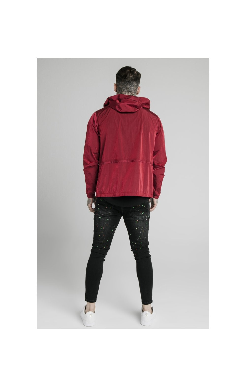 SikSilk Zip Through Windbreaker Jacket - Red (5)