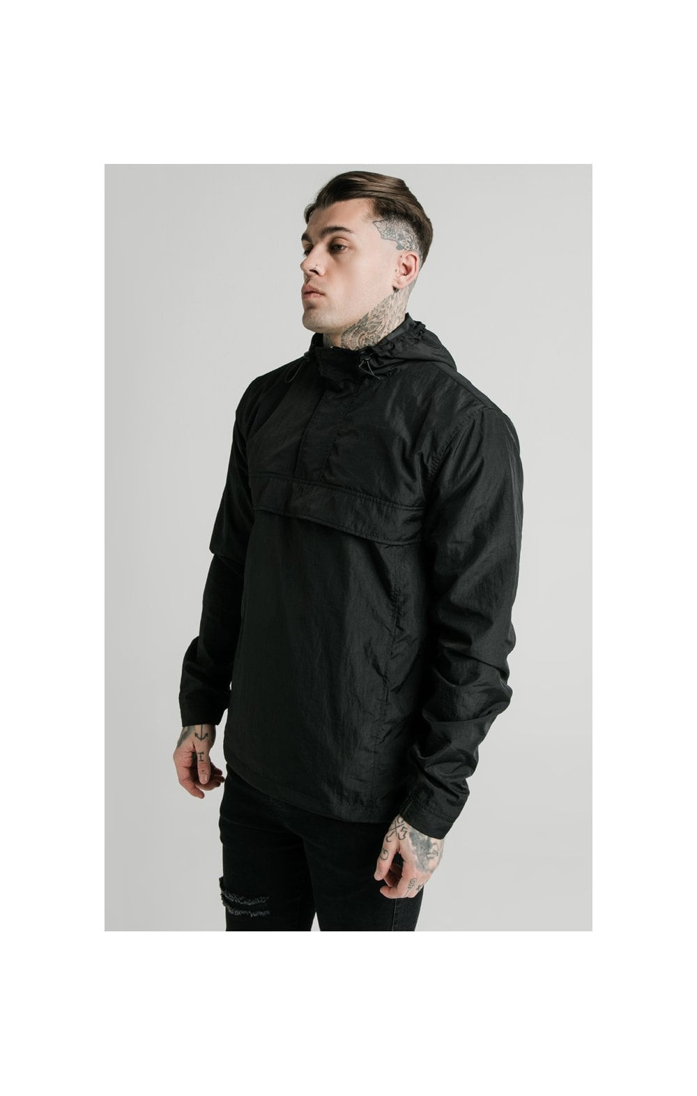 SikSilk Energy Overhead Windbreaker - Black