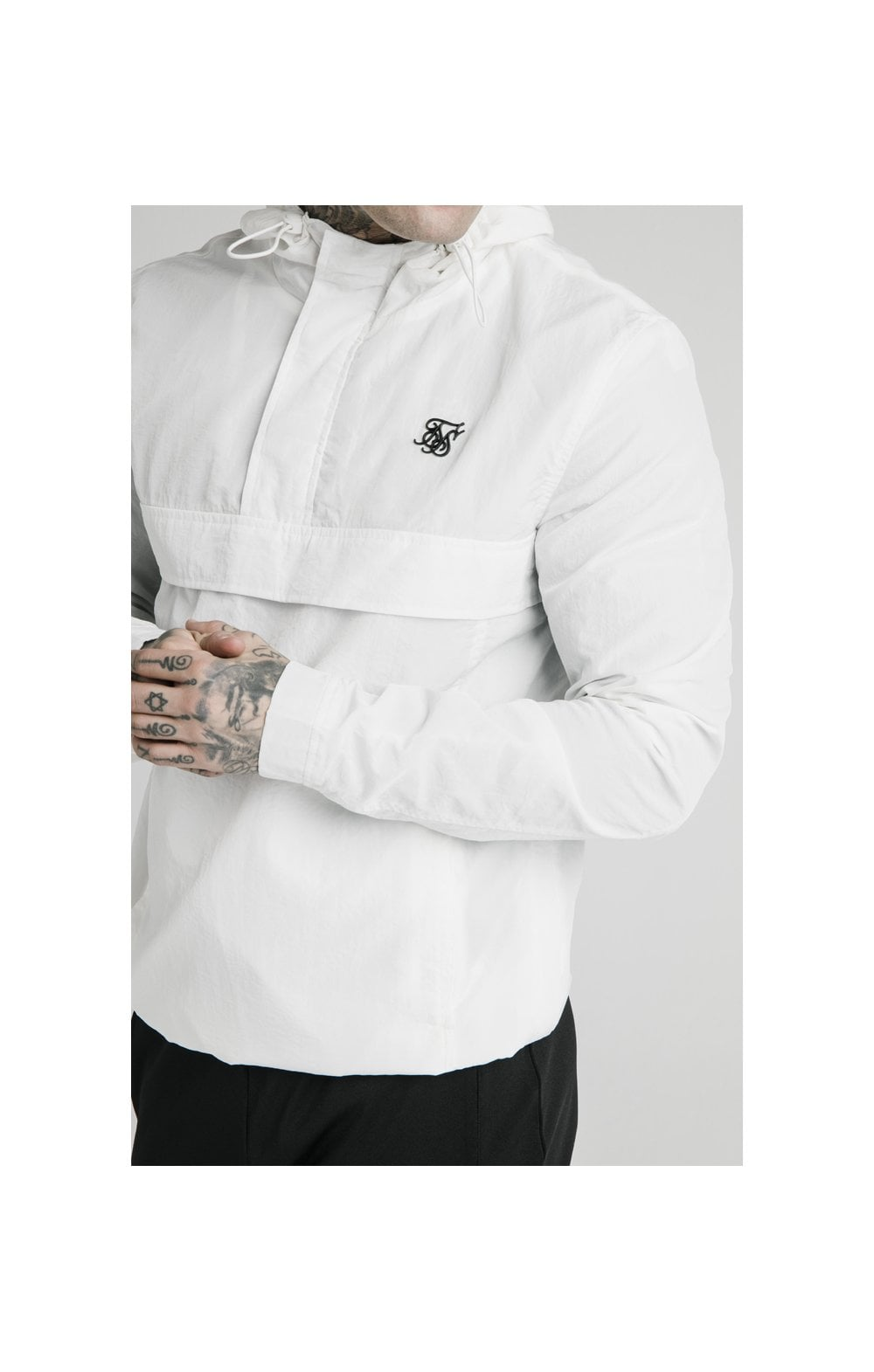 SikSilk Energy Overhead Windbreaker - White