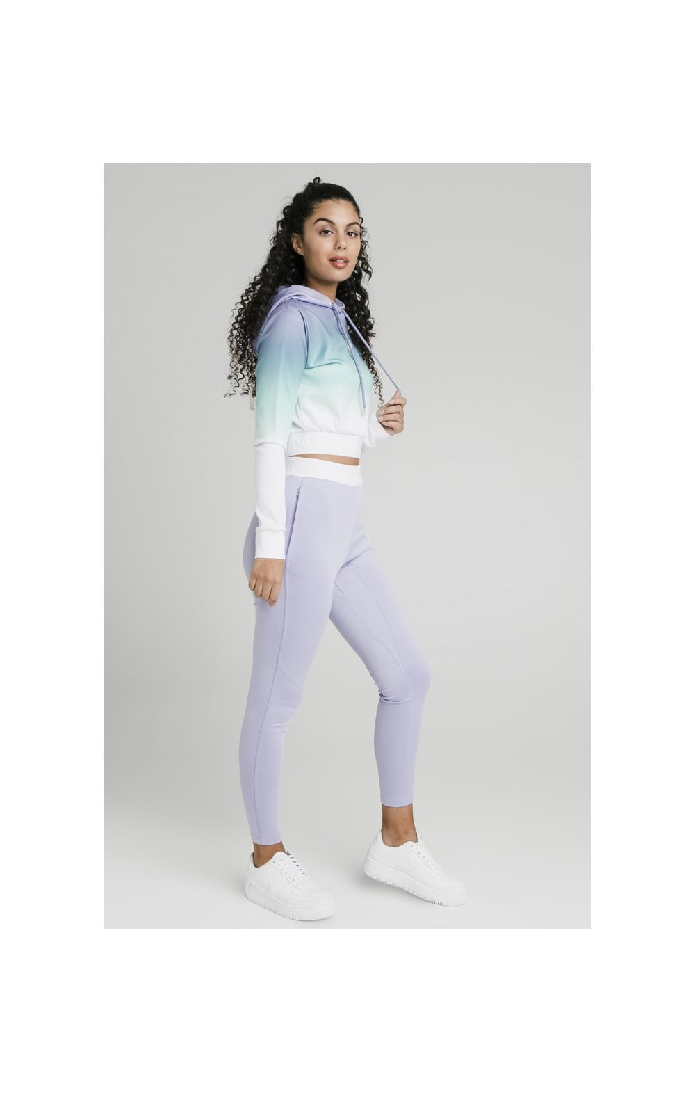SikSilk Lilac Haze Track Top - Lilac, Turquoise & White (1)