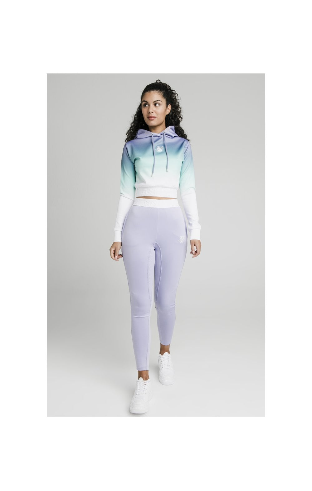 SikSilk Lilac Haze Track Top - Lilac, Turquoise & White (2)