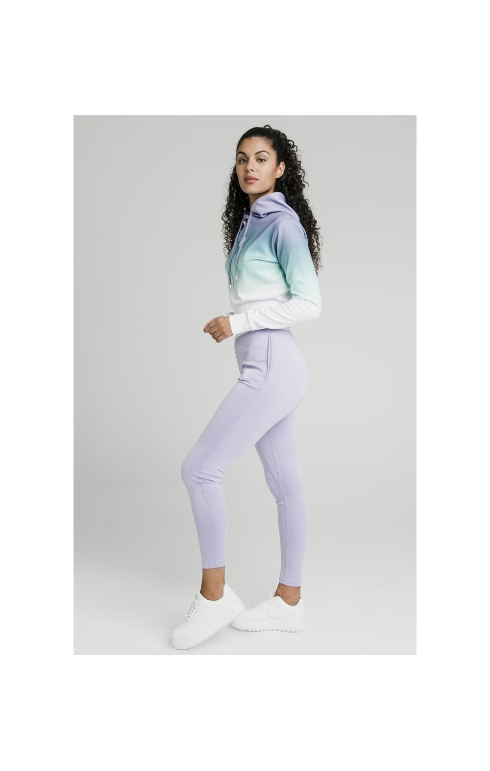SikSilk Lilac Haze Track Top - Lilac, Turquoise & White (4)