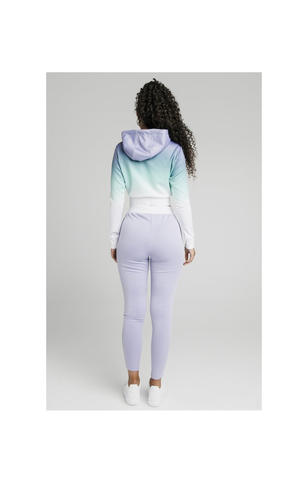 SikSilk Lilac Haze Track Top - Lilac, Turquoise & White (5)