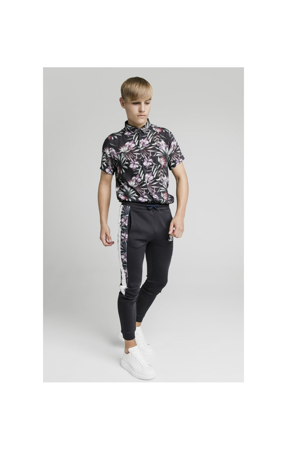Charger l'image dans la galerie, Illusive London Dark Tropical Tape Pants - Navy (2)