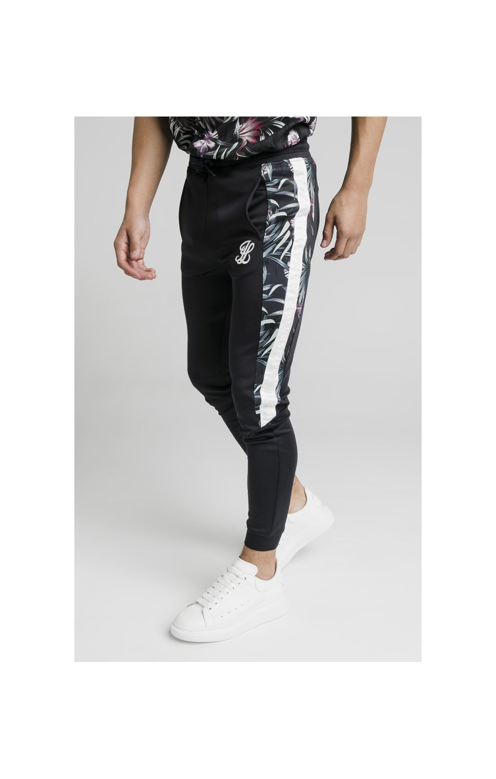 Charger l'image dans la galerie, Illusive London Dark Tropical Tape Pants - Navy (3)