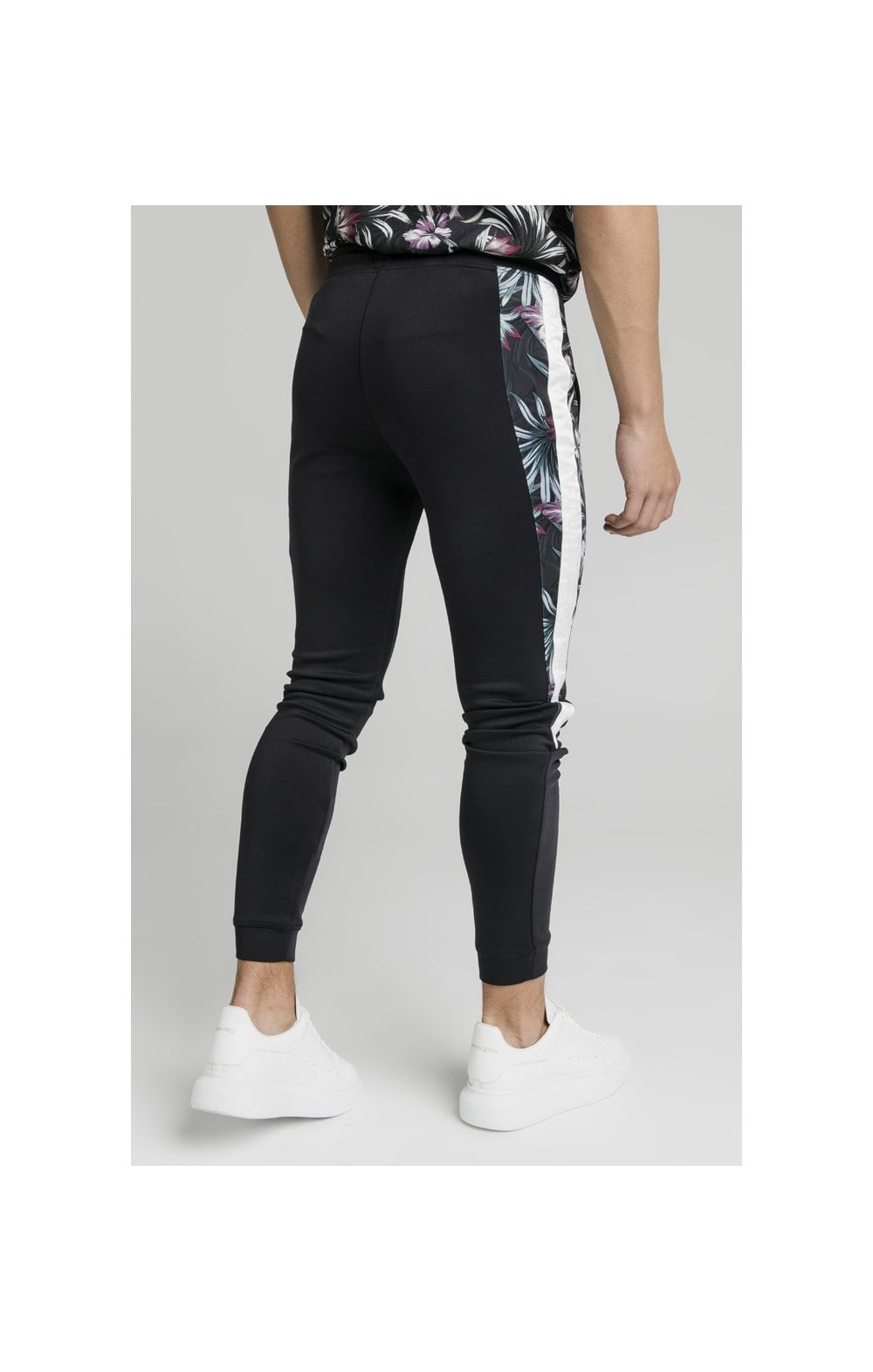 Charger l'image dans la galerie, Illusive London Dark Tropical Tape Pants - Navy (6)