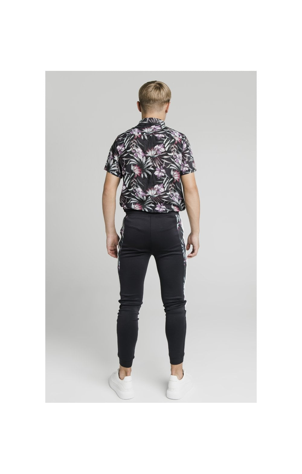 Charger l'image dans la galerie, Illusive London Dark Tropical Tape Pants - Navy (7)