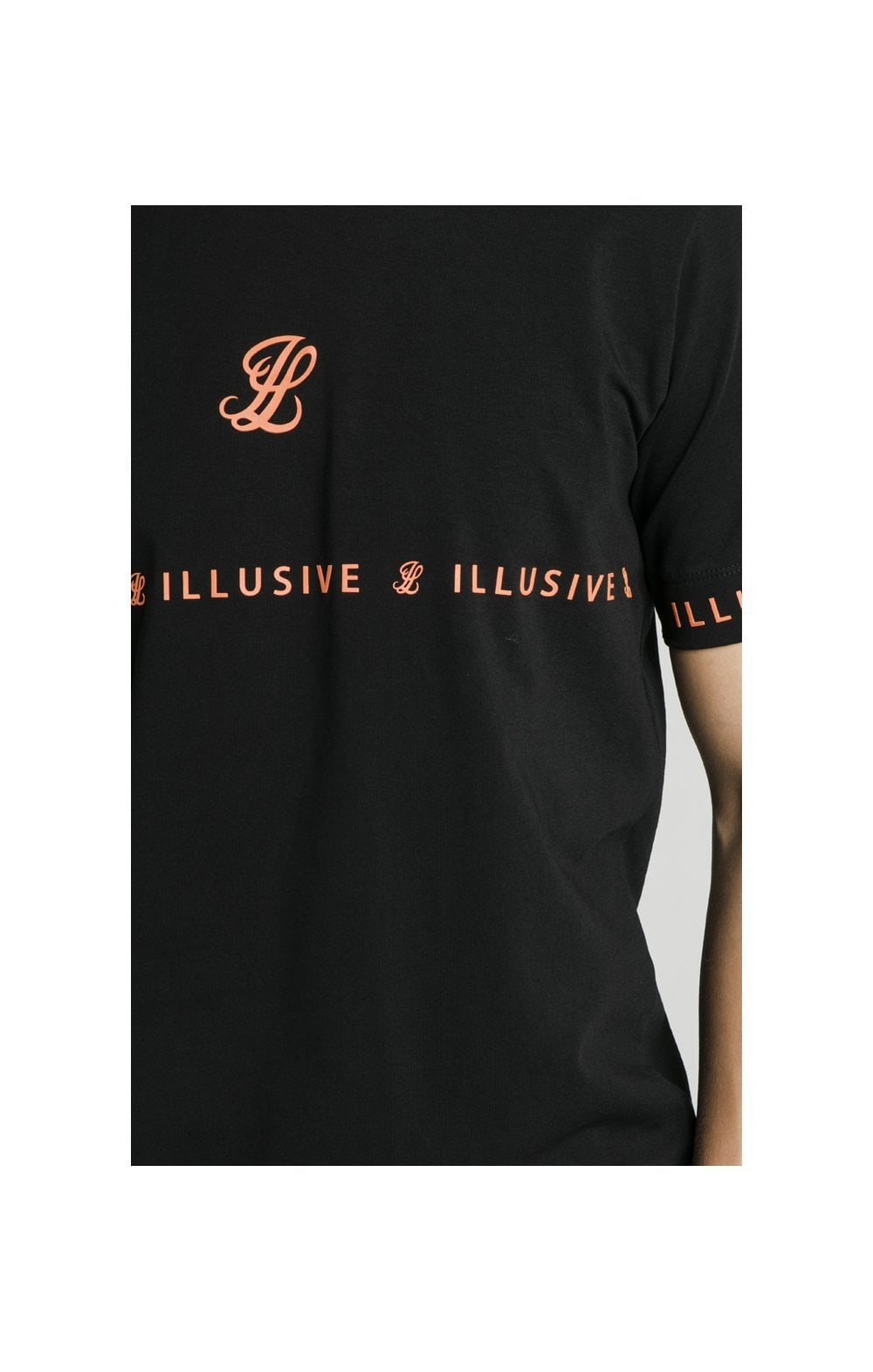 Illusive London Tape Tee - Black (1)