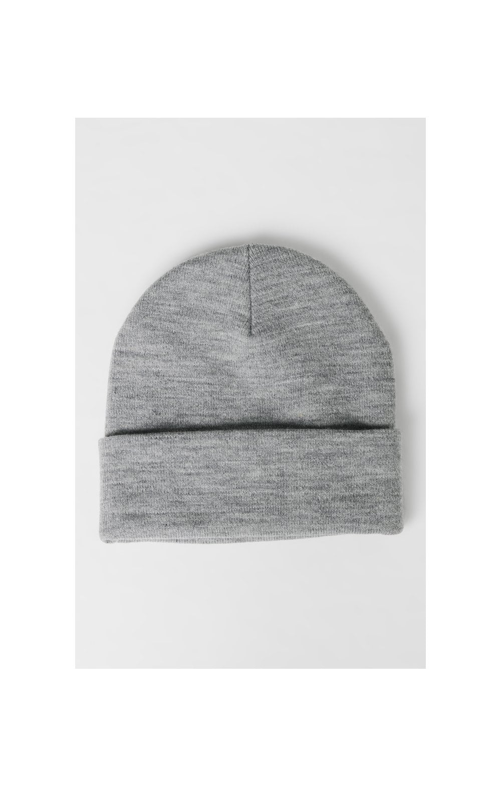 SikSilk Patch Beanie - Grey Marl (2)