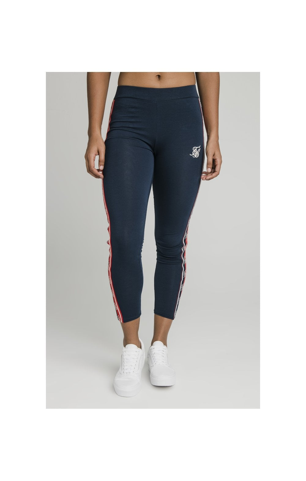 SikSilk Classic Tape Leggings - Navy