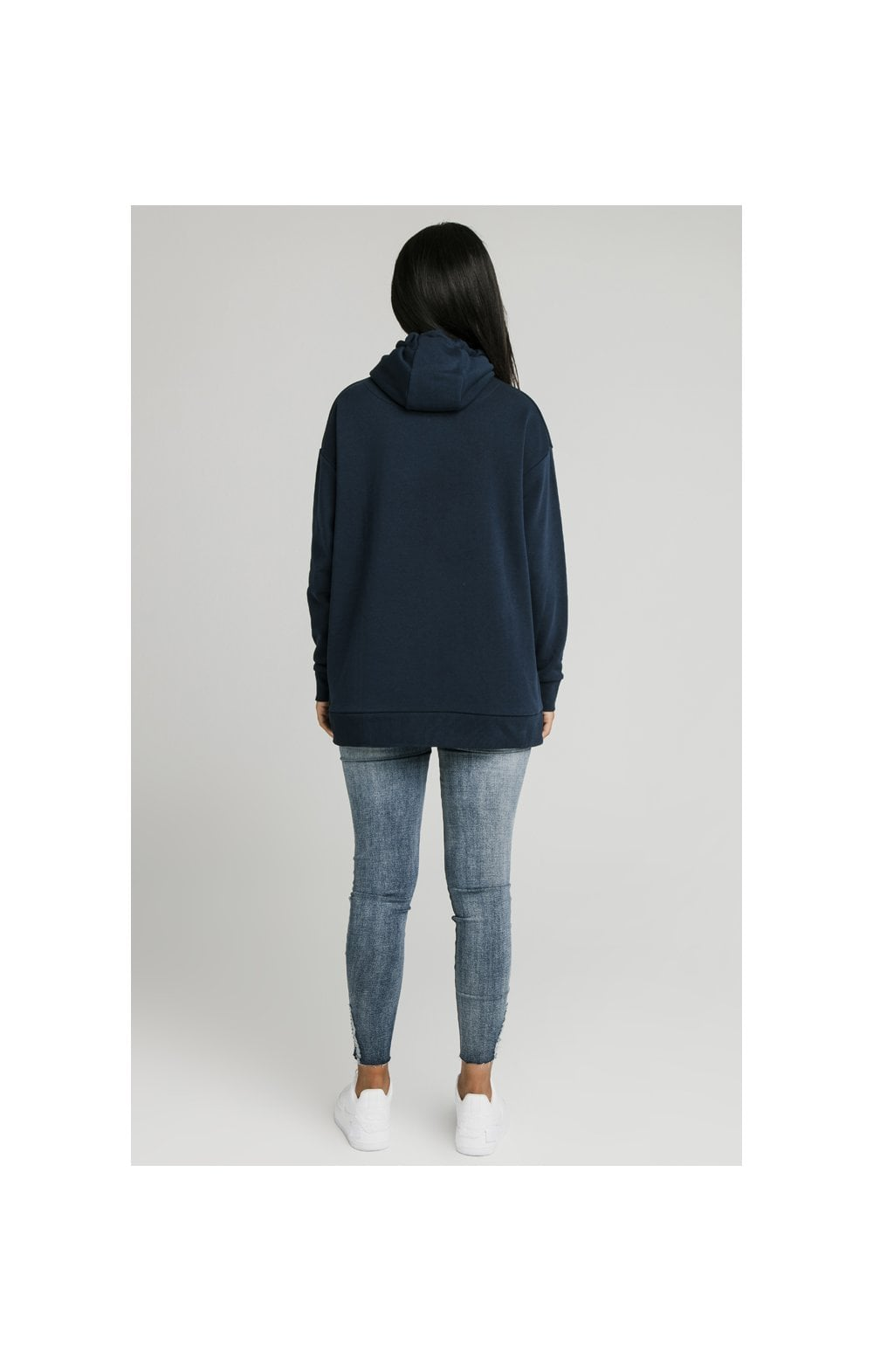 SikSilk Embroidered Oversize Hoodie - Navy (7)