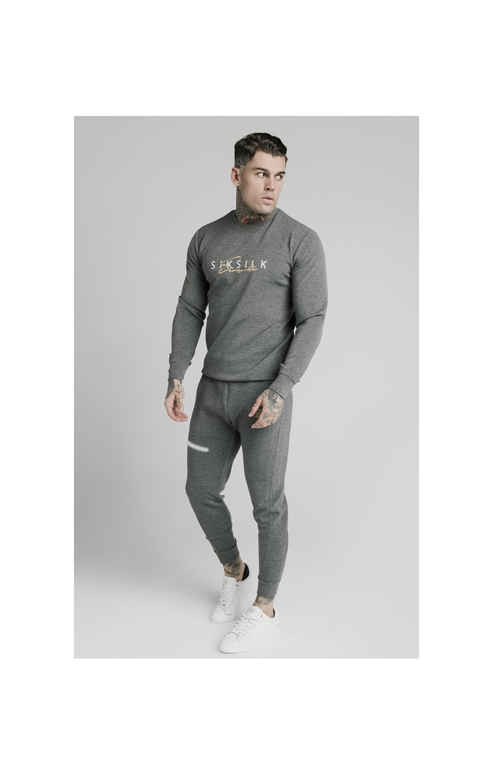SikSilk Signature Sweater - Grey (1)