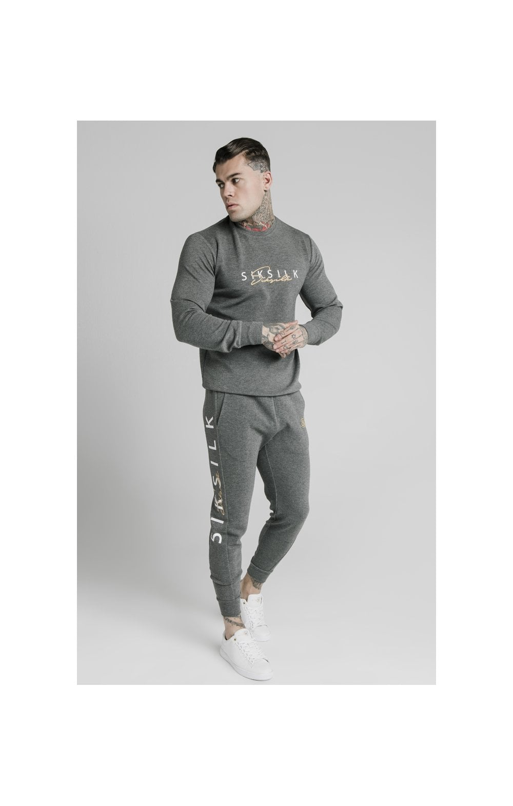 SikSilk Signature Sweater - Grey (2)