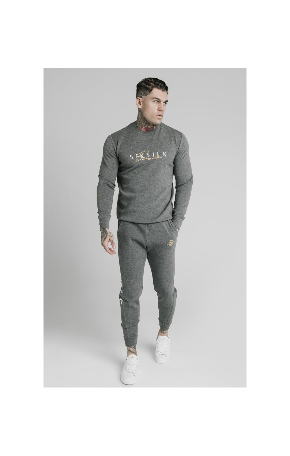 SikSilk Signature Sweater - Grey (3)