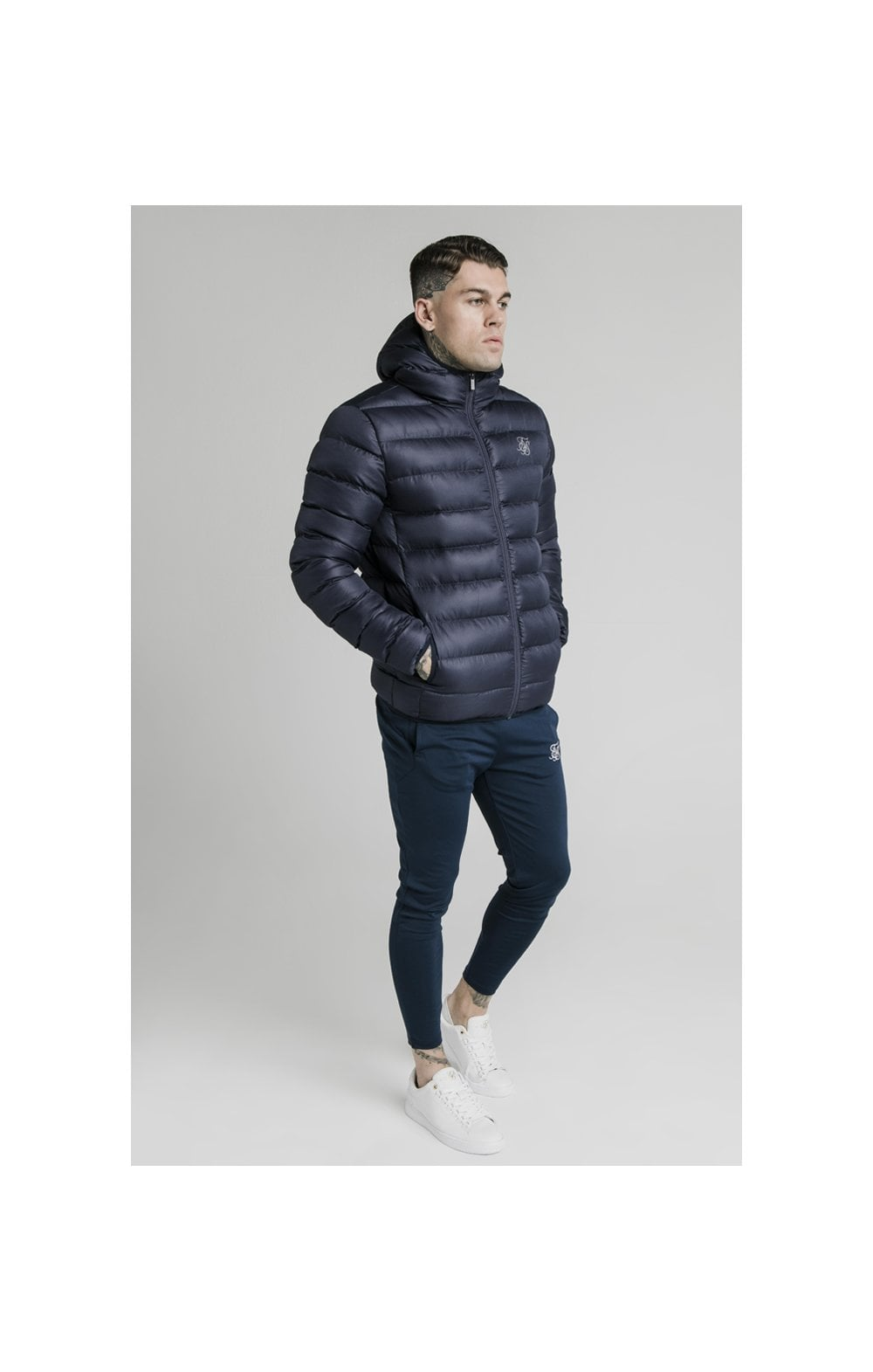 SikSilk Atmosphere Jacket - Navy (2)