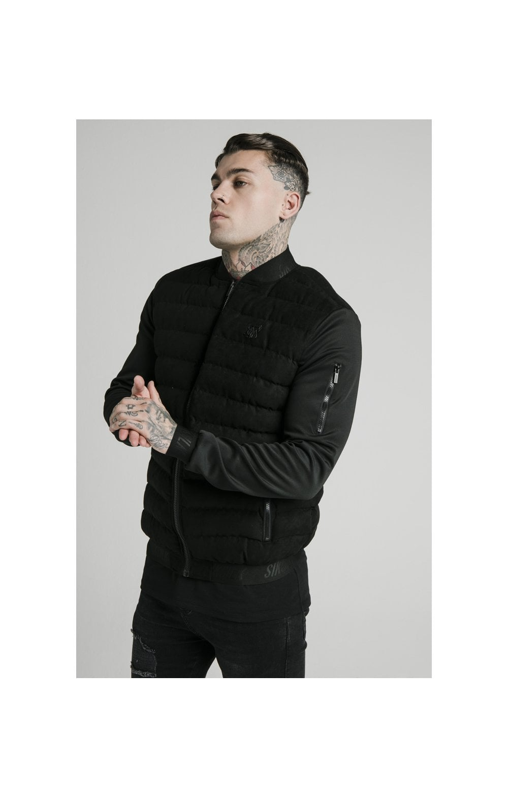 SikSilk Storm Bubble Jacket - Black