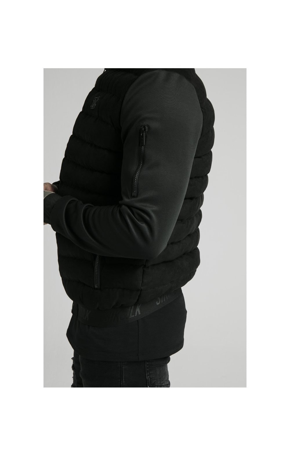 SikSilk Storm Bubble Jacket - Black (1)