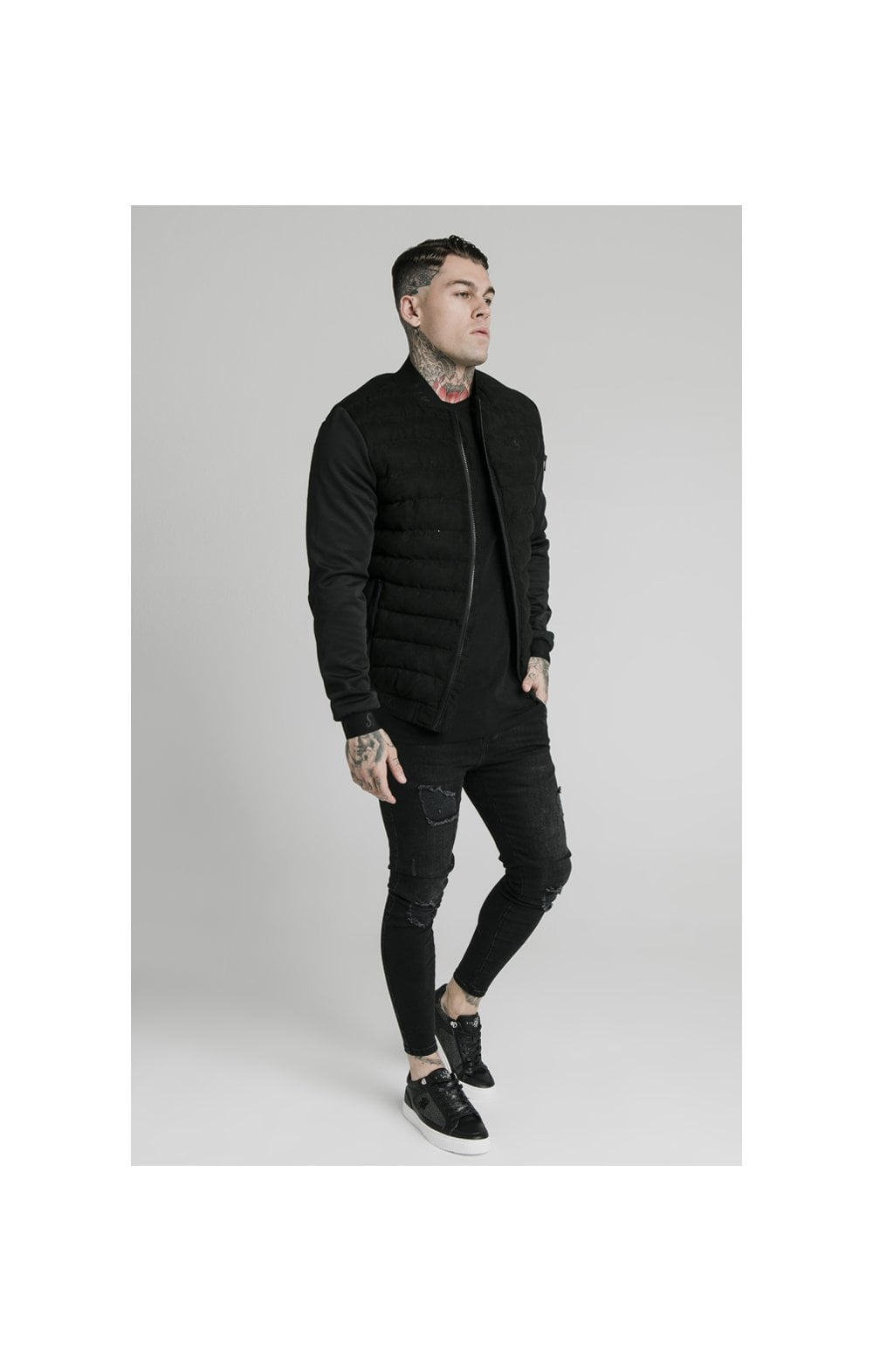 SikSilk Storm Bubble Jacket - Black (2)