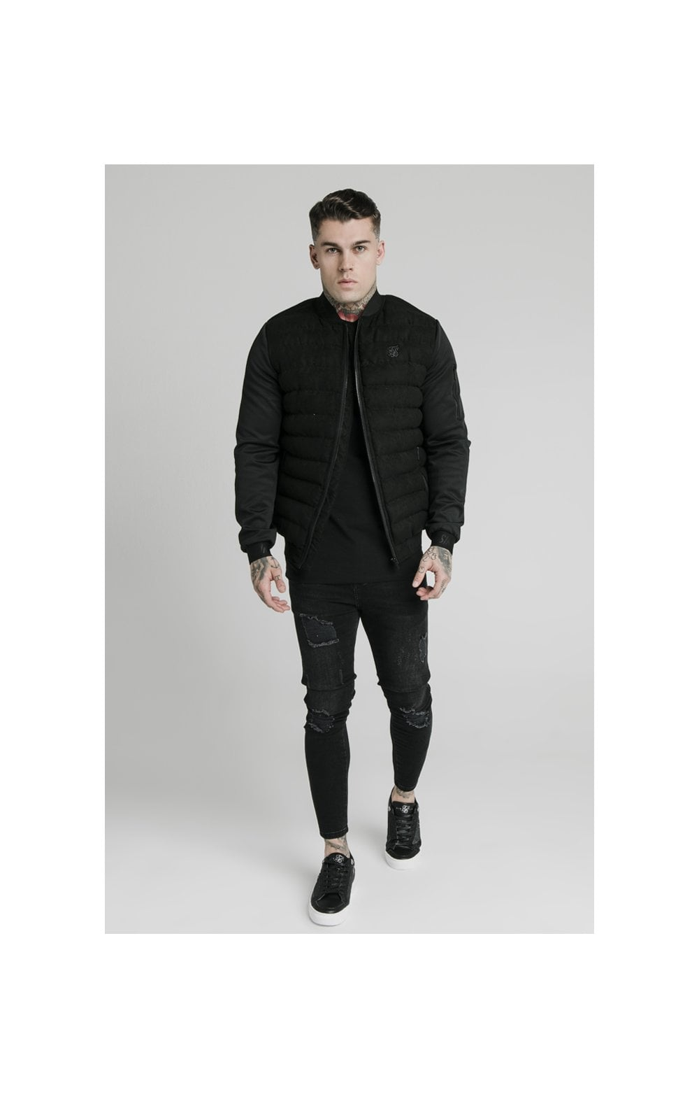 SikSilk Storm Bubble Jacket - Black (3)