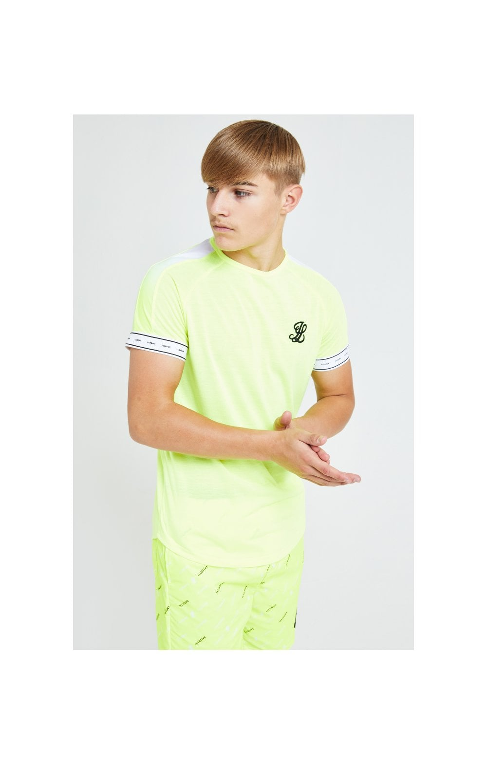 Illusive London Fade Panel Tech Tee - Neon Yellow (2)