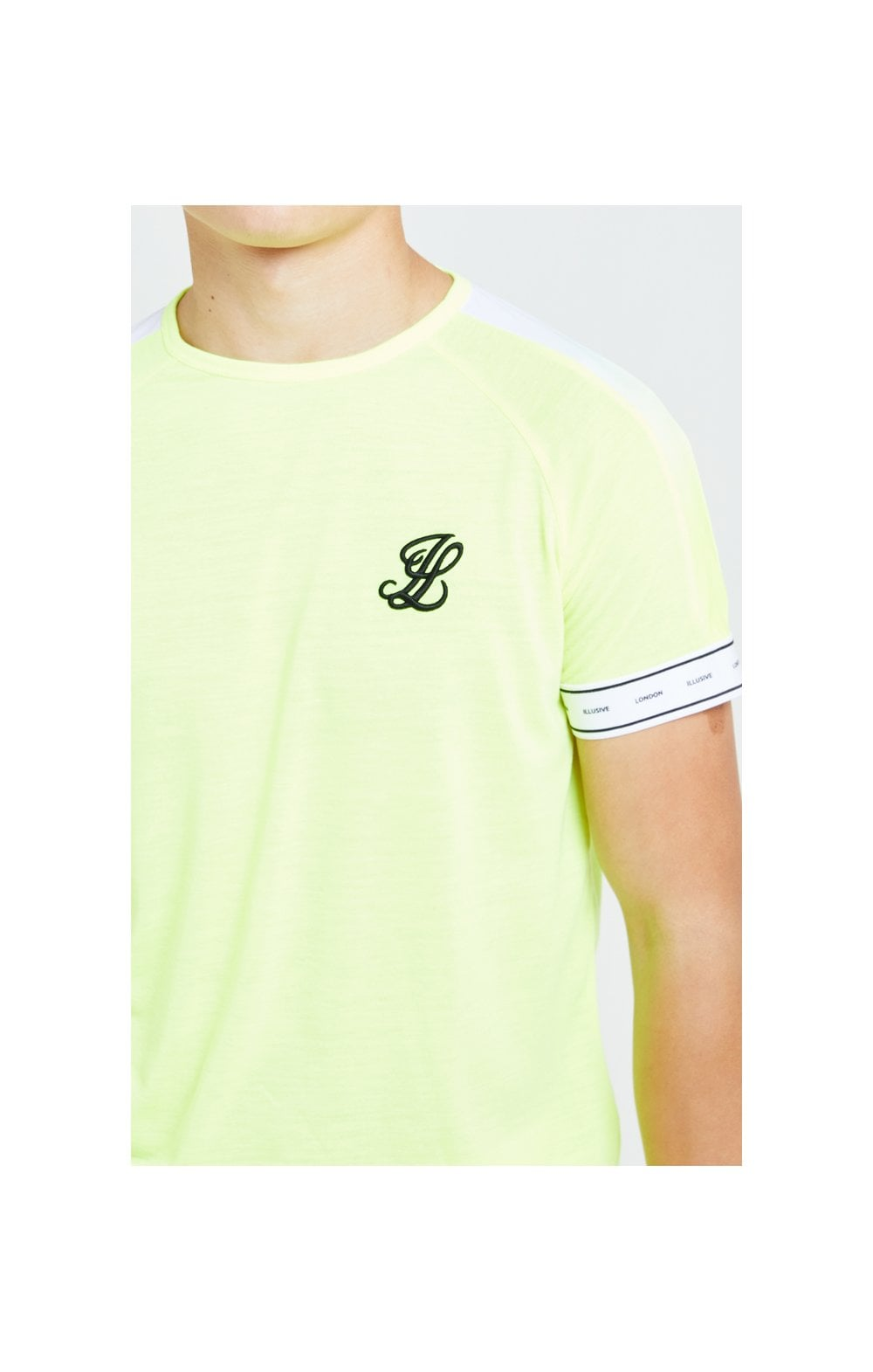 Illusive London Fade Panel Tech Tee - Neon Yellow (1)