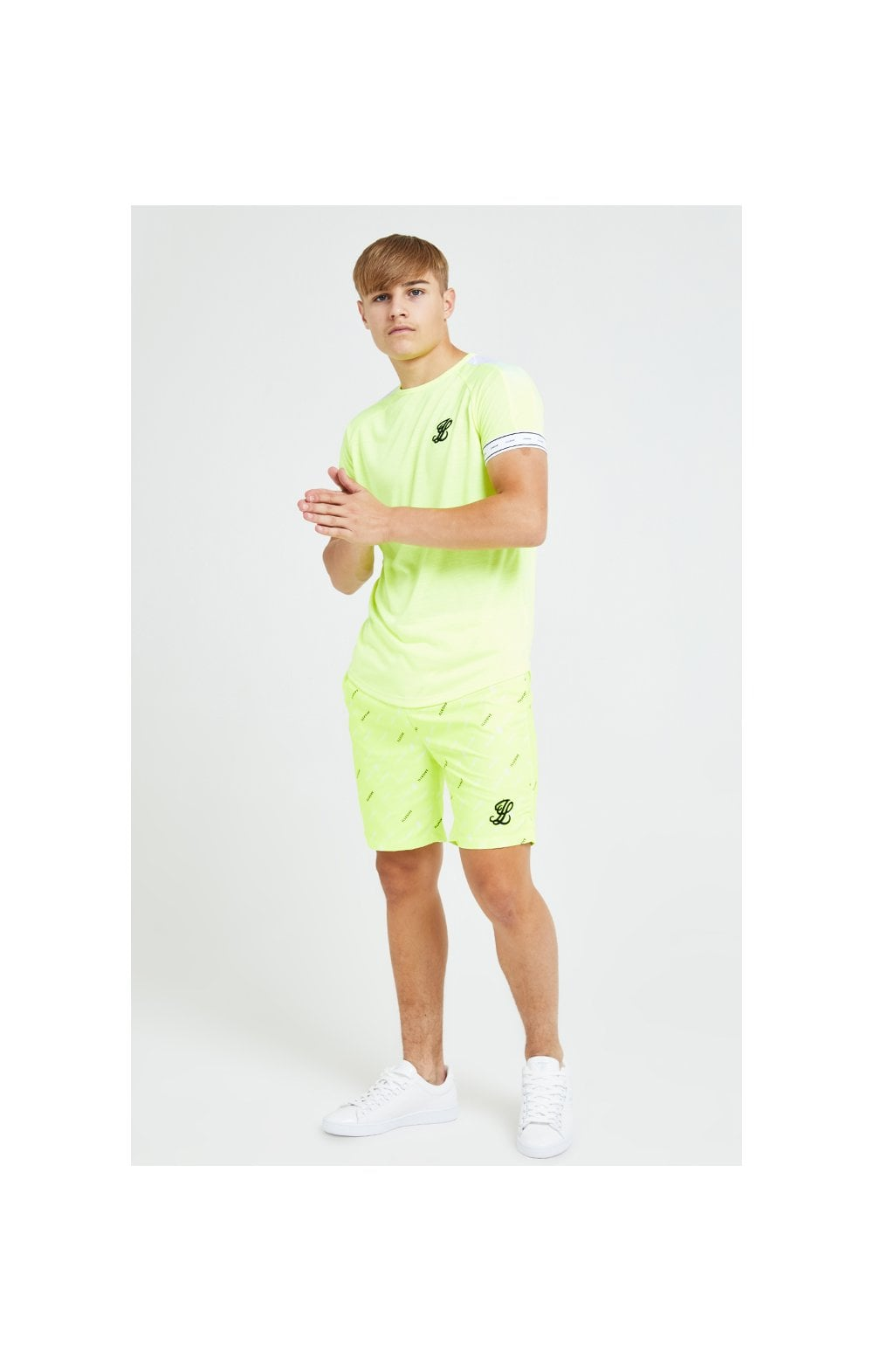 Charger l'image dans la galerie, Illusive London Fade Panel Tech Tee - Neon Yellow (3)