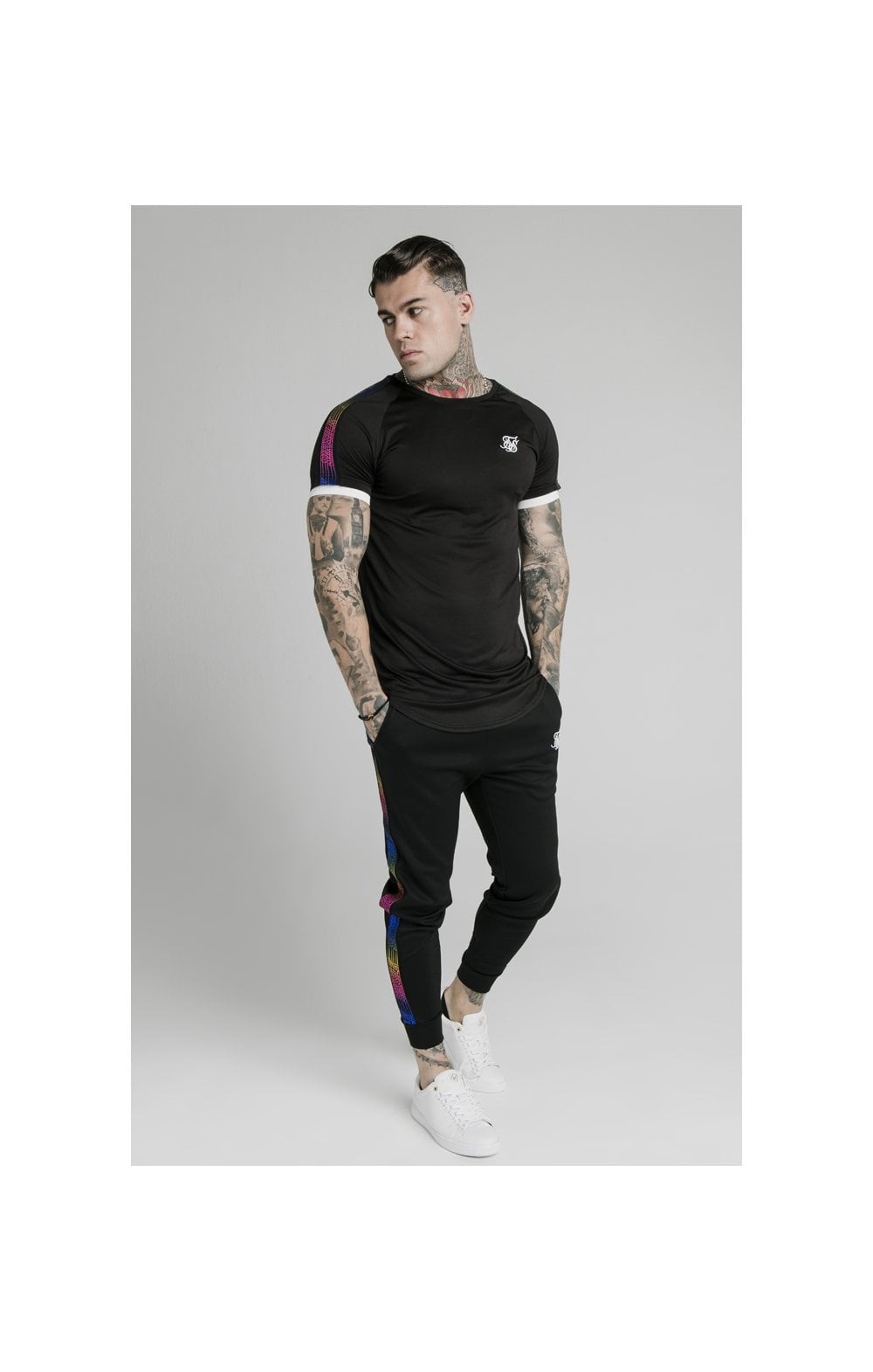 SikSilk S/S Fade Runner Tech Tee - Black (2)